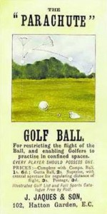 "Wackiest Training Aid: ""Parachute Golf Balls"""