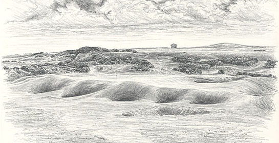 Gorgeous golf art from golfsketch