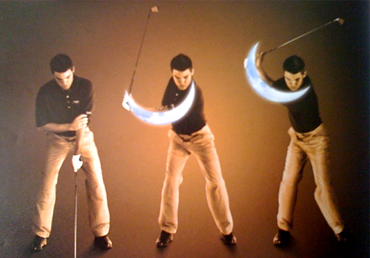 crescent moon drill Left Arm in Golf Swing   Straight or Relaxed?