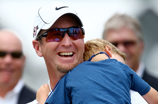 David Duval and son