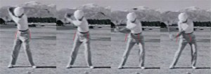 Ben Hogan downswing lateral slide