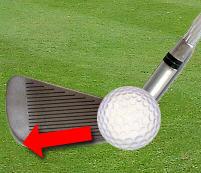 Shanked golf shot