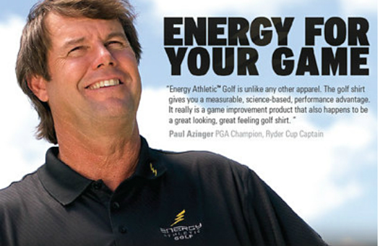 energy golf Super Ion Charged Energy Athletic Golf Shirts