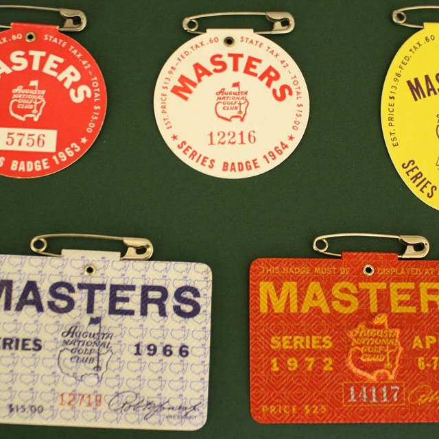 Master's Badges from the early 60's. golf golfing instagolf masters…