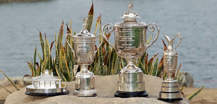 Golf's 4 Major Trophies