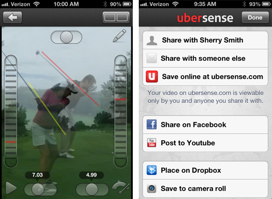 ubersense compare share Ubersense Golf App. UberCool. UberUseful.