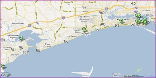 Mississippi gulf coast map