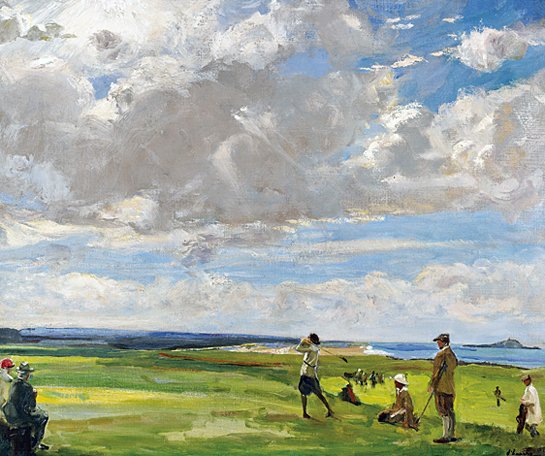 Sir Charles Lavery golf painting