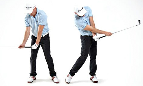 Split hand golf drill