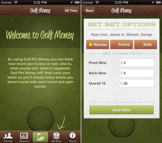golf money Keep Track of Your Bets with Golf Money