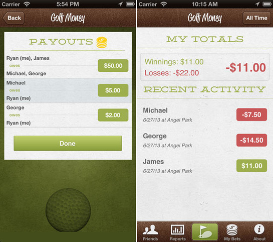 golf money 2 Keep Track of Your Bets with Golf Money
