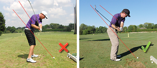 how to play golf with an over the top swing