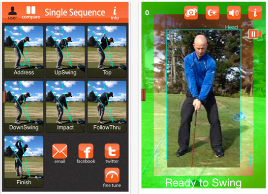 swing profile 5 of the Best Golf Swing Analyzer Apps