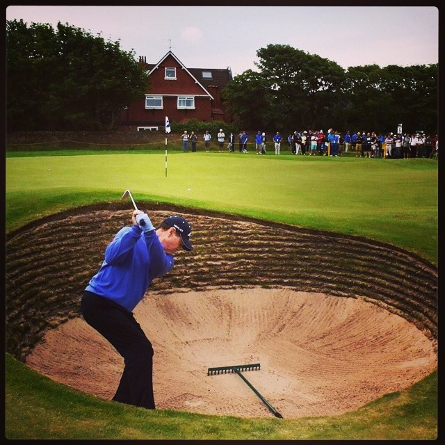 Repost from @the.open via @igrepost_app, Tom Watson practices for his 37th (!) Open Championship appearance.  #legend #TomWatson #TheOpen #royalliverpool #hoylake #theopen2014 #britishopen