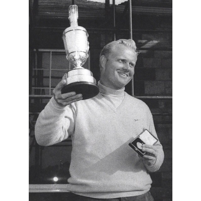 "Repost from @jacknicklaus via @igrepost_app, On this day in 1966, Jack Nicklaus won his first Open Championship, becoming only the fourth golfer in history to complete the career Grand Slam. Nicklaus recalls: ""When the moment came to accept the trophy, the tears began welling up and I couldn't get any words out. Being about to receive something that even I, never much of a self-doubter, had genuinely doubted would ever be mine was extremely emotional. Finally, I asked the people to excuse me and to let me just stand there and enjoy myself for a moment. It's a moment I still enjoy recalling as much as any in my career."" #theopen #britishopen #muirfield #golf #goldenbear #nicklaus #jacknicklaus"