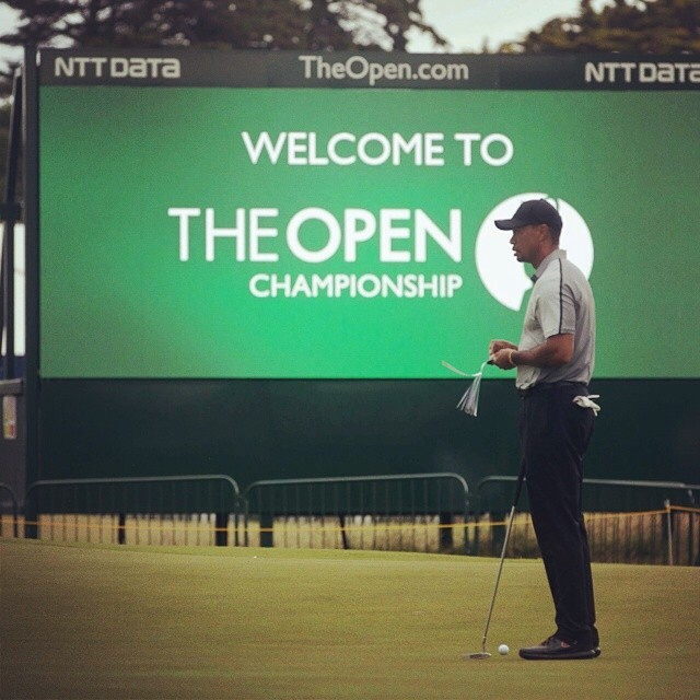 Repost from @the.open via @igrepost_app, @tigerwoods getting an early look at Royal Liverpool today.  Welcome back to The Open, Tiger.  #TheOpen #royalliverpool #hoylake #tigerwoods