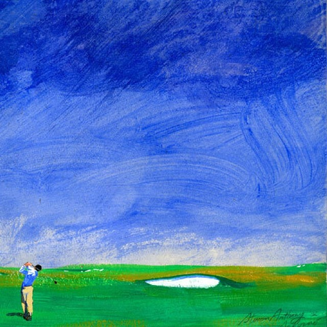 Love this piece by Steven Anthony Salerno. Check out more at sasgolf.com #golf #golfart