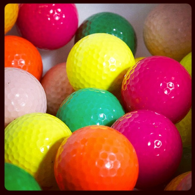 Not sure about u but I'm sticking with white. #golf #golfballs #neongolfballs #golfdashblog