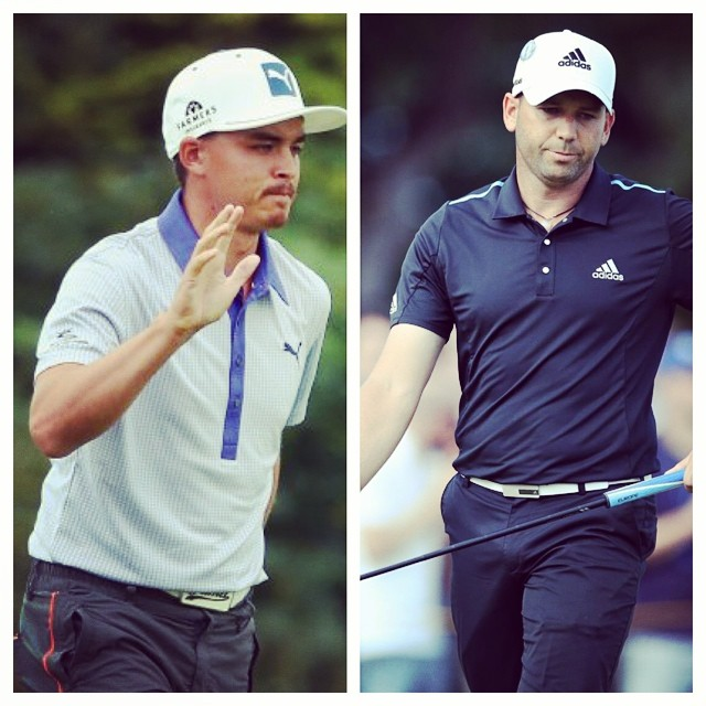 Can one of these guys possibly win The Open? #sergiogarcia #rickifowler #theopen #britishopen