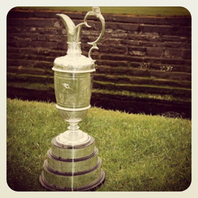 Lovely piece of hardware up for grabs, don't u think @the.open #theopenchampionship #british open #theopen #claretjug #royalliverpool ☀️?⛳️???