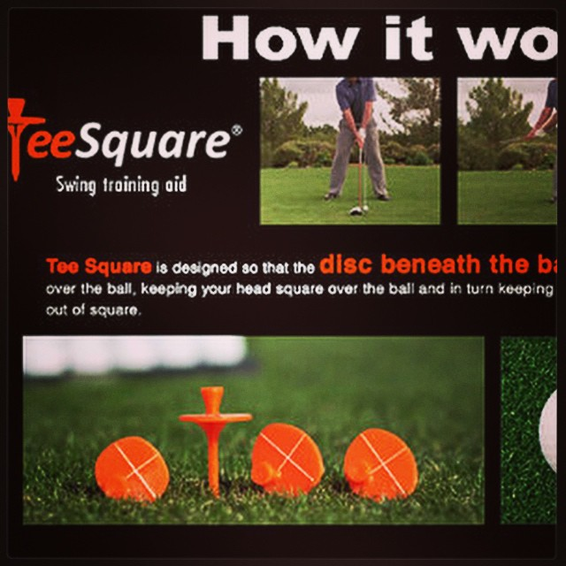 NEW BLOG POST | Check out this cool, innovative golf training aid to help with balance and stability. http://golfdashblog.com/teesquare/ #golf #golftrainingaid #teesquare