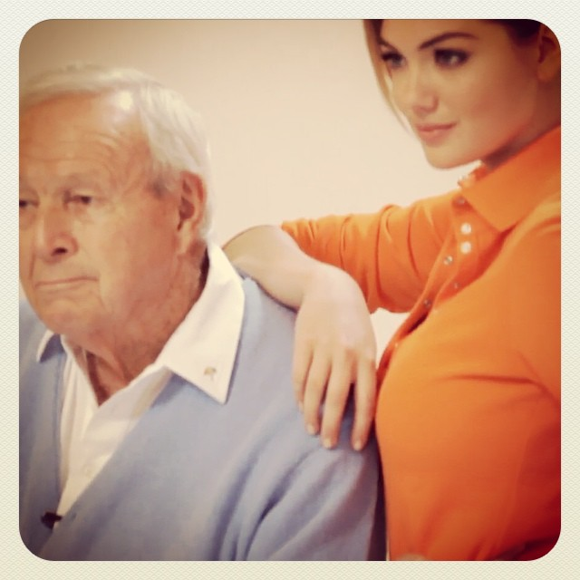 The King & Kate ! #golf  #kateupton #arnoldpalmer