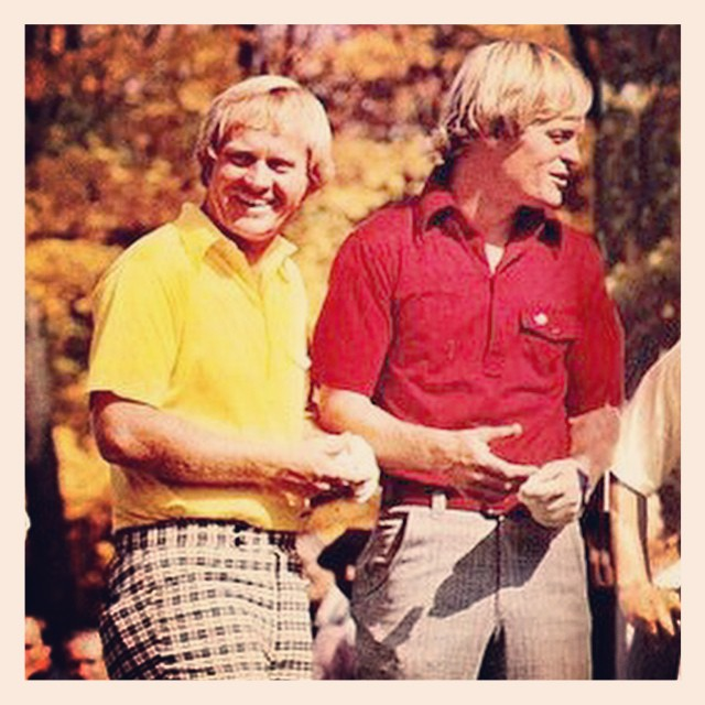 Couple nice looking blondies. #golf #blondes #jacknicklaus #johnnymiller #golfstyle