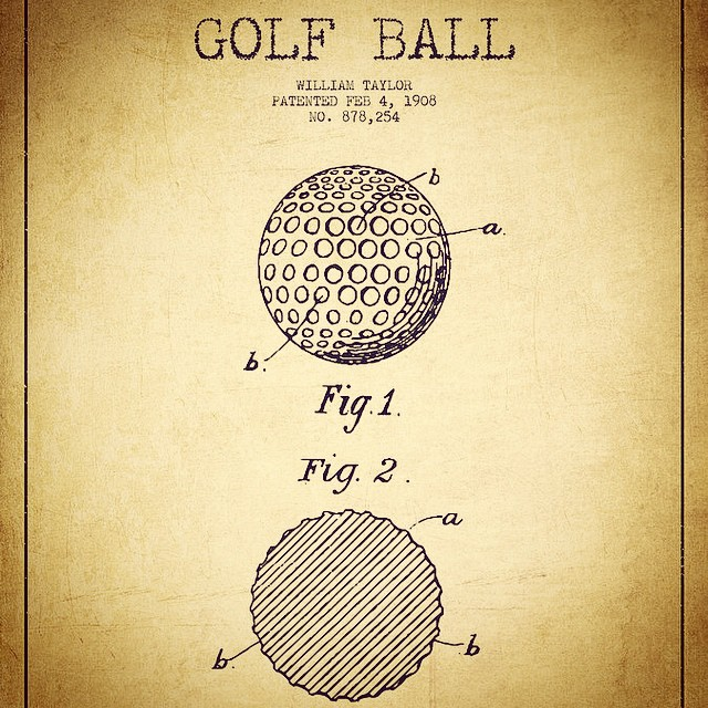 Golf ball patent.  #golf # golfballs