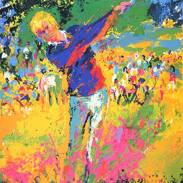 Jack Nicklaus by Leroy Neiman. #golf #golfart #jacknicklaus #leroyneimann