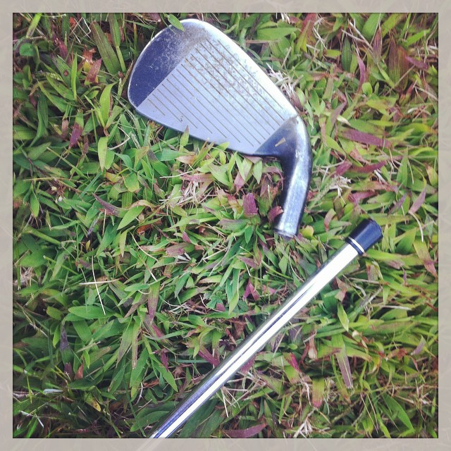I hit the ball looked down and had only a handle! Club head was released right down the line! #golf #accident ⛳️⛳️⛳️