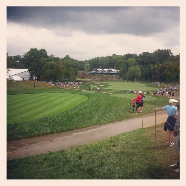 Signature hole #13 at Valhalla at PGA Championship. #golf #valhalla #pgachamp ☔️☔️☔️⛳️⛳️⛳️⛳️⛳️?⛳️??