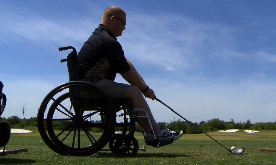 disabled golfer