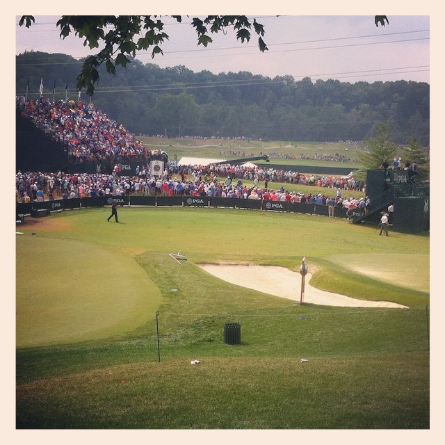 Waiting for Rory. #pgachamp #golf #rory