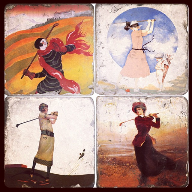 These are pretty cool. #golf #womensgolf #golfart ⛳️⛳️?