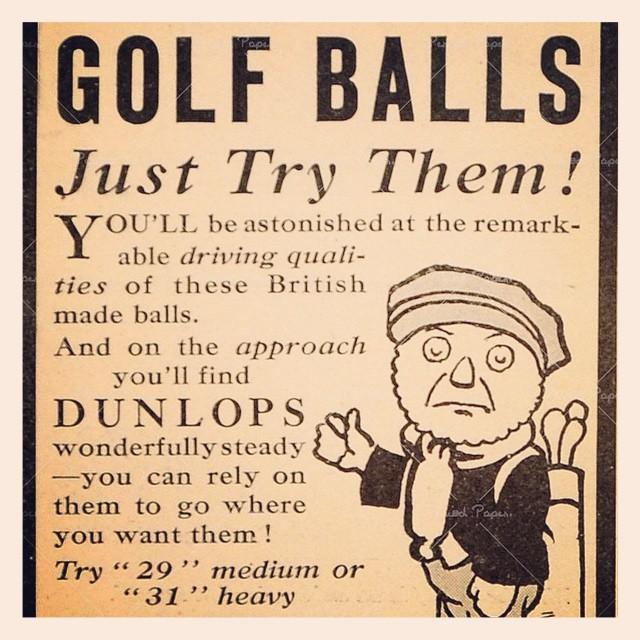 Cool vintage Dunlop ad. #golf #golfballs #dunlop #vintagead