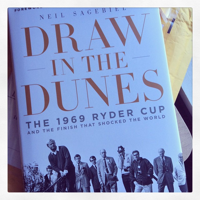 Excited to read my blogger friend Neil Sagebiel's new book! #golf #neilsagebiel #rydercup #drawinthedunes