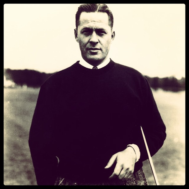 Love this classic pic of Bobby Jones! #golf #bobbyjones #vintagegolf ⛳️⛳️???