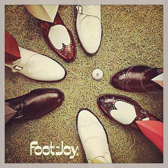 Now these are some classy golf shoes! #golf #golfshoes #classic #footjoy ⛳️⛳️⛳️????