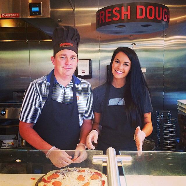 Repost from @aduf99 via @igrepost_app, A big thank you for #unclemaddiospizza and everyone who came out tonight to support the @jasondufnerfoundation. #pizzapros #slingingdatdough ?❤️