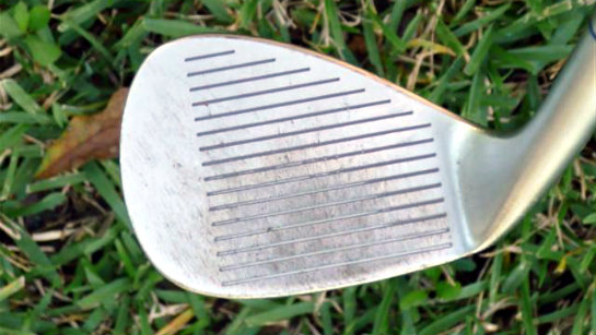 Worn out golf club