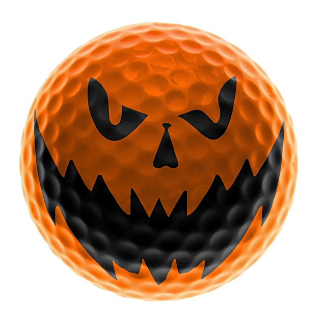 Hit me! I dare u! #golf #golfball #halloween ⛳️??