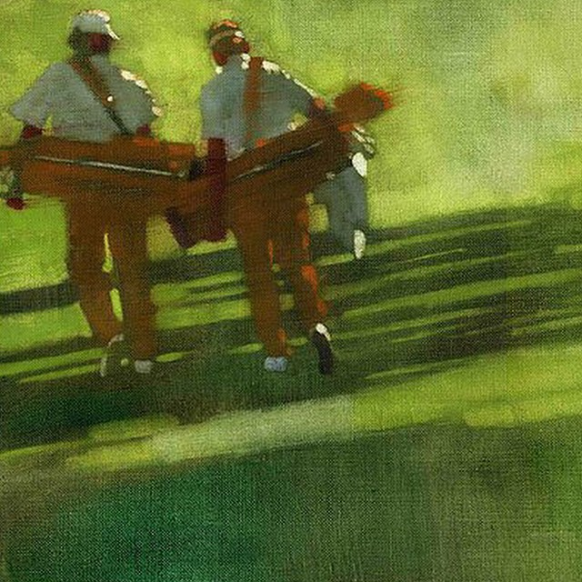 Golfers. Lovely painting on canvas. #golf #golfart #instagolf #golfers ? ⛳️ ?