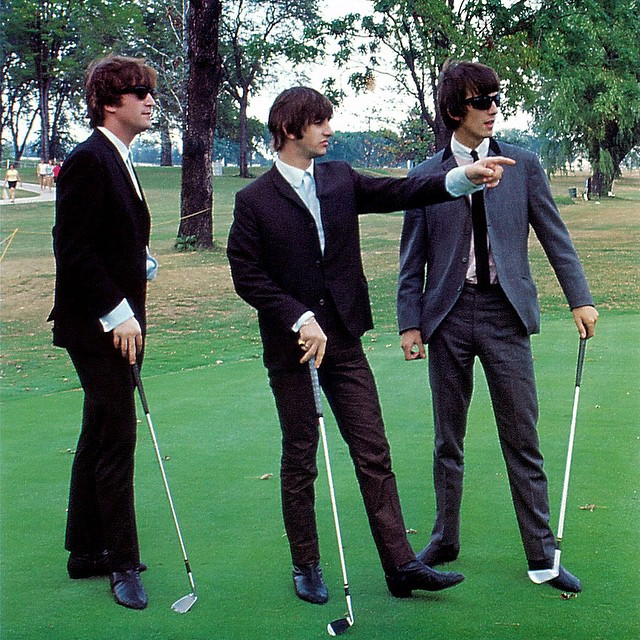 Musical golfers. #golf #beatles #wherespaul
