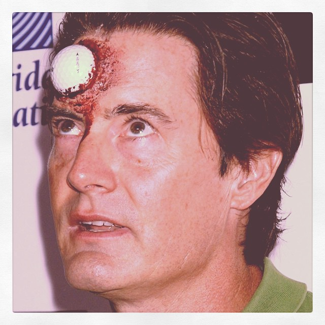 Ouch! #golf #golfball #halloween #blood #happyhalloween ??????⛲️????