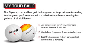 My Tour Ball by Snell Golf