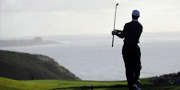 Tiger Twirling golf club
